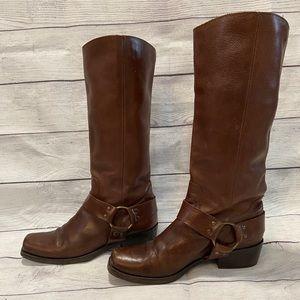 Michael KORS Long Moto Boots Size 8